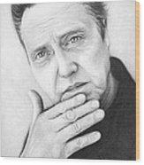 Christopher Walken Wood Print