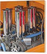 Chrome Colored Stacks Wood Print