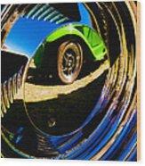 Chrome Hubcap Wood Print