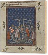 Chroniques De France Ou De Saint Denis Wood Print