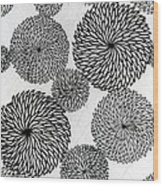 Chrysanthemums Wood Print by Japanese School