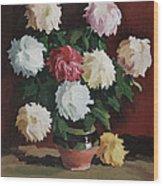 Chrysanths Wood Print