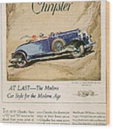 Chrysler 1928 1920s Usa Cc Cars Wood Print
