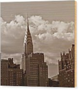Chrysler Building And The New York City Skyline Wood Print