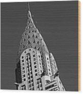 Chrysler Building Bw Wood Print