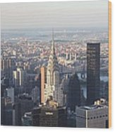 Chrysler Building From The Empire State Building Wood Print