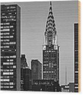 Chrysler Building New York City Bw Wood Print