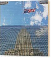 Chrysler Building Reflections Vertical 1 Wood Print