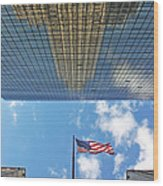 Chrysler Building Reflections Vertical 2 Wood Print