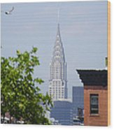 Chrysler Building View Wood Print