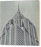 Chrysler Building Vintage Look Wood Print
