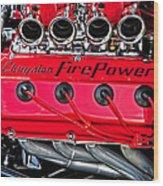 Chrysler Fire Power Wood Print