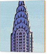 Chrysler Spire Nyc Usa Wood Print