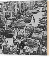 Chrysler Tank Plant Wood Print