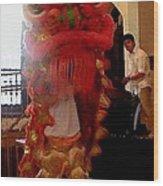 Chua Truc Lam One Man Dragon Wood Print by Shawn Lyte