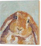 Chubby Bunny Wood Print