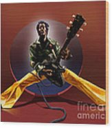 Chuck Berry - This Is How We Do It Wood Print by Reggie Duffie