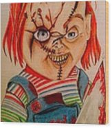 Chucky Wood Print