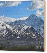 Chugach Mountain Range Wood Print