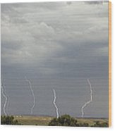 Chugwater Lightning Wood Print