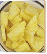 Chunks Of Pineapple Wood Print