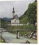 Church - Pfarrkirche St. Sebastian Wood Print