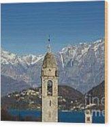 Church And Alps Wood Print