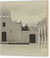 Church And Courtyard Argentina Wood Print