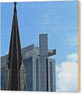 Church And State Wood Print by Randall Weidner