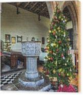 Church At Christmas V7 Wood Print