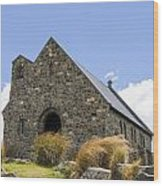 Church At Lake Tekapo Wood Print