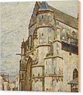 Church At Moret After The Rain Wood Print