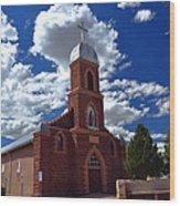 Church At Puerto De Luna Nm Wood Print