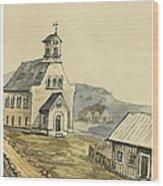Church At Rejkjavik Iceland 1862 Wood Print
