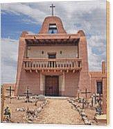 Church At San Ildefonso Wood Print