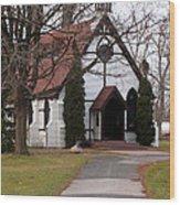 Church At The Lake Wood Print