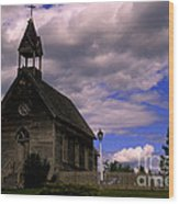 Church At The Okeefe Ranch Wood Print