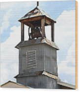 Church Bell Tower In Truchas In New Mexico Wood Print