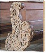 Church Benches Wood Print