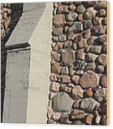 Church Buttress With Shadows Wood Print