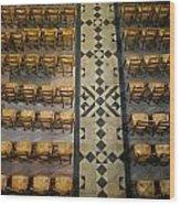 Church Chairs Wood Print