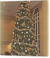 Church Christmas Tree Wood Print