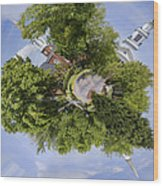Church Circle Wood Print by Heather Applegate
