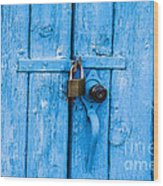 Church Door Blues Wood Print