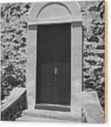 Church Door Hawaii Wood Print