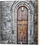 Church Door Killala Ireland Wood Print