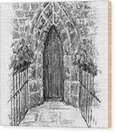 English Church Door Wood Print