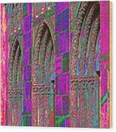 Church Doors Pop Art Wood Print