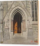 Church Entrance Wood Print