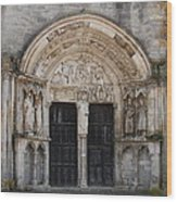 Church Entrance - St  Thibault Wood Print